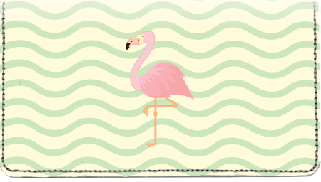 Wading Flamingos Leather Cover
