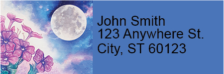 Celestial Moons Address Labels
