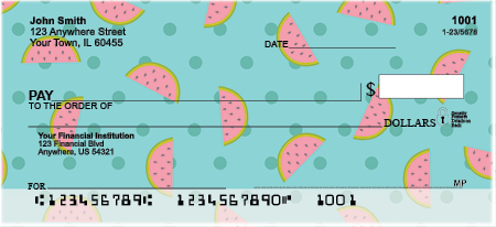 Fruity Patterns Personal Checks