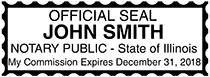 Illinois Public Notary Rectangle Stamp