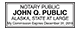 Alaska Public Notary Rectangle Stamp