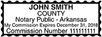 Arkansas Public Notary Rectangle Stamp