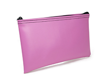 Pink Zipper Bank Bag 5.5 X 10.5