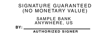 Authorized Signature Guarantee Stamp