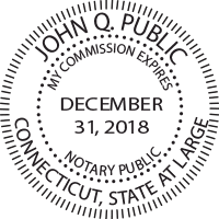 Connecticut Notary Public Round Stamp