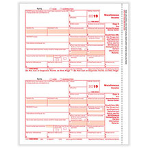 1099 Miscellaneous, Federal Copy A for the IRS, 1 pg-2 forms