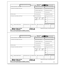 W-2 Employee Federal Copy B, 2-UP