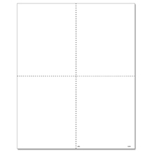 W-2 BLANK 4-UP Horizontal Quadrant