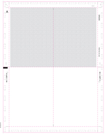 W-2 BLANK 11''/V Fold 4-UP Quadrant w/Backer