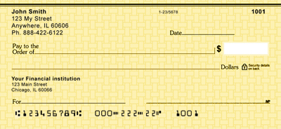 Yellow Safety  Personal Checks