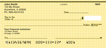 Yellow Safety Personal Checks $ 6.99