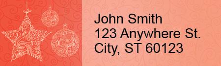 Vintage Christmas Address Labels