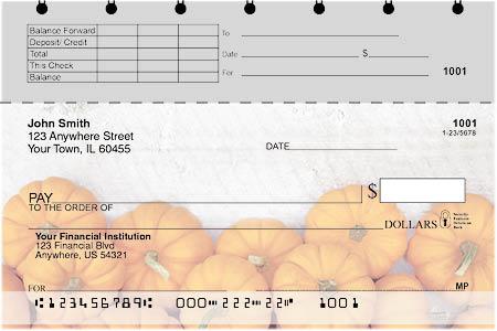 Grateful Pumpkin Top Stub Checks