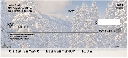 Snowy Woodland Personal Checks