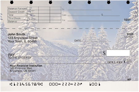 Snowy Woodland Top Stub Checks