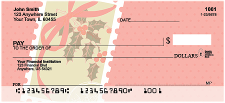 Christmas Greetings Personal Checks