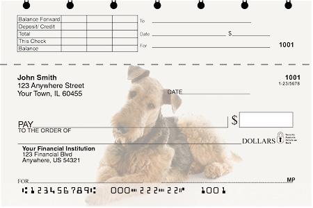 Airedale Terrier Top Stub Checks