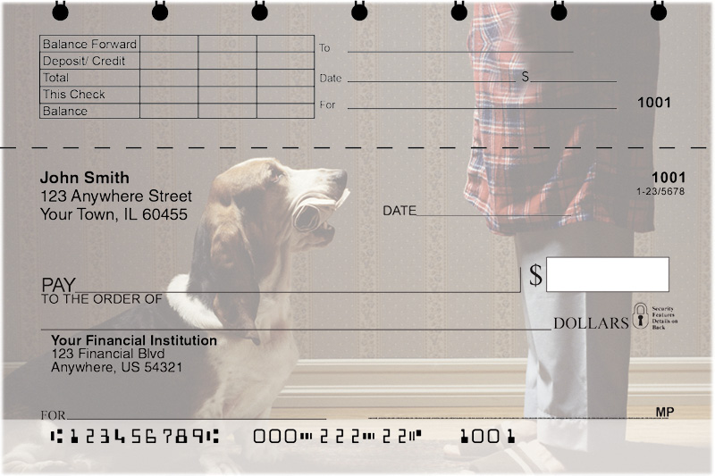 Basset Hound Top Stub Checks