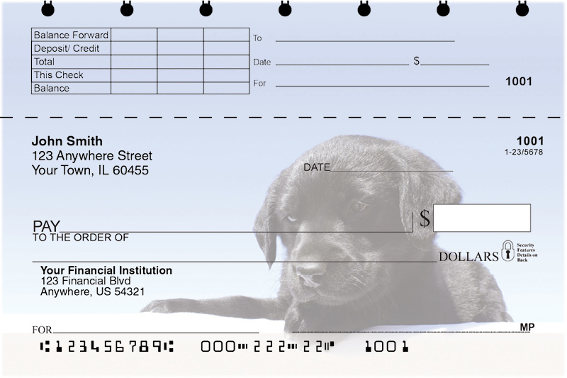 Black Lab Puppies Top Stub Checks