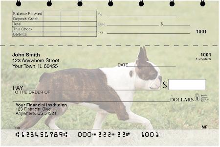 Boston Terrier Top Stub Checks