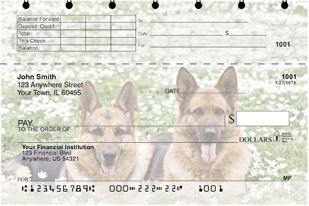 German Shepherd Top Stub Checks