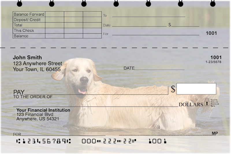 Golden Retriever Top Stub Checks