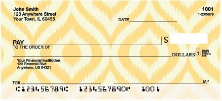 Textile Patterns Personal Checks