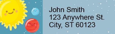 Happy Solar System Address Labels