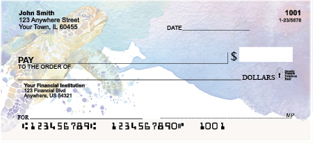 Elegant Sea Turtles Personal Checks