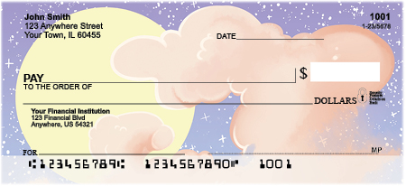 Celestial Clouds Personal Checks