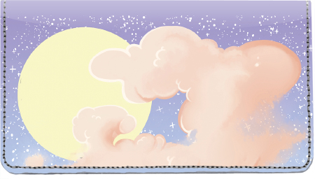 Celestial Clouds Leather Cover