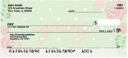Spring Sayings Personal Checks
