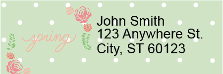 Spring Sayings Address Labels