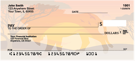 Safari Sunrise Personal Checks