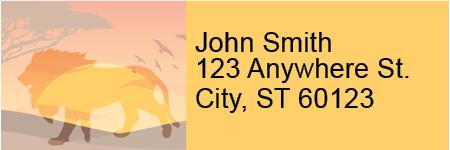 Safari Sunrise Address Labels