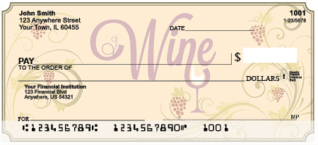 Wine N' Vine Personal Checks