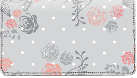 Floral Patterns Leather Cover