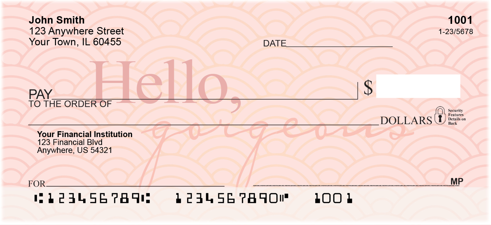 Hello, Gorgeous Personal Checks