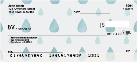 April Showers Personal Checks