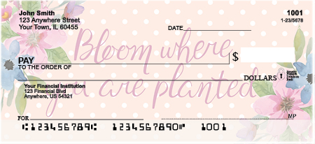 Happiness Blooms From Within Personal Checks