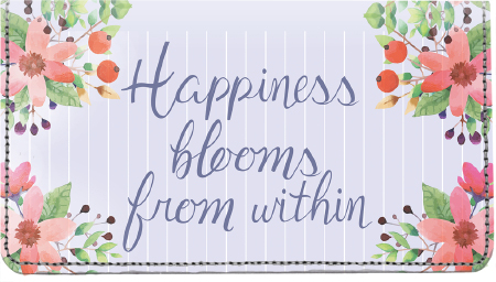 Happiness Blooms From Within Leather Cover