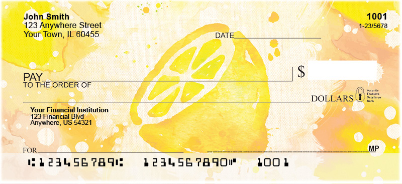 Watercolor Fruit Personal Checks