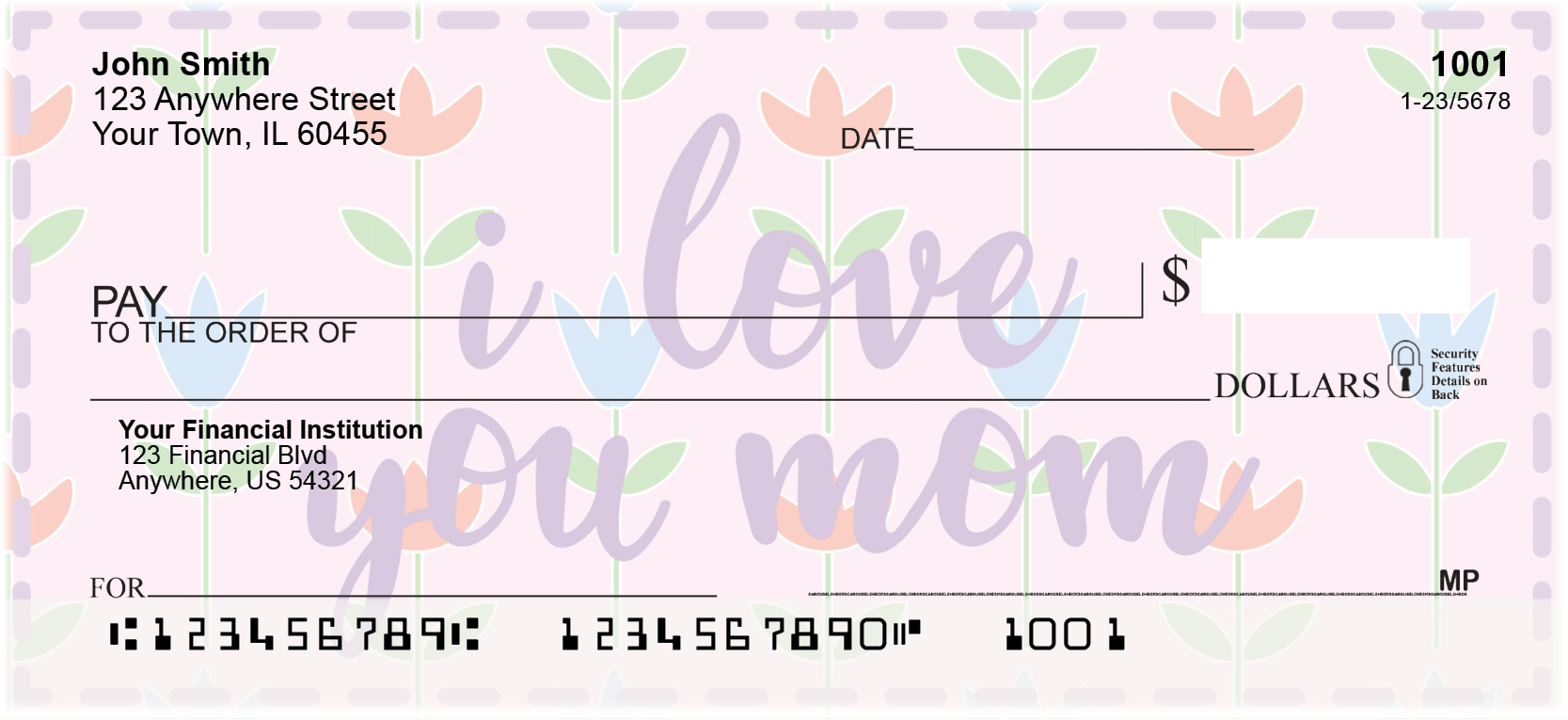 I Love You, Mom Personal Checks