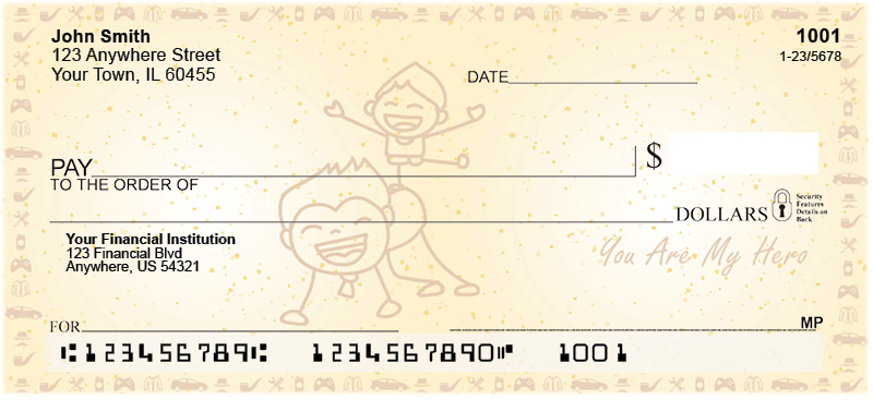 Dad is my Hero Personal Checks