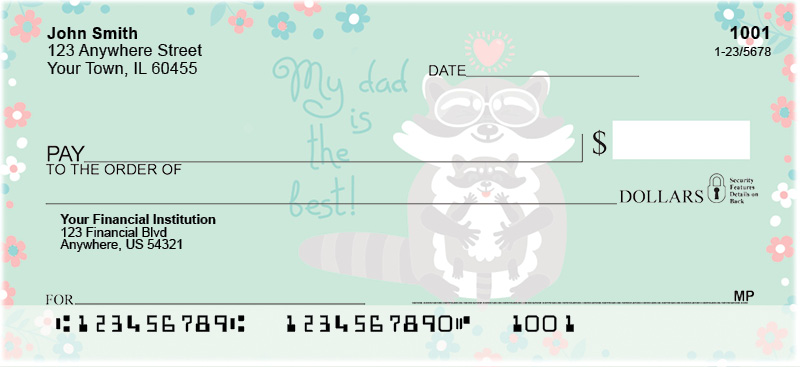 Dad is the Best Personal Checks