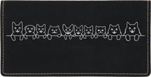 Cat Tails Engraved Leather Cover