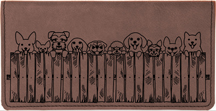 Peeking Pups Engraved Leather Cover