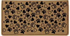 Paw Prints Engraved Leather Cover