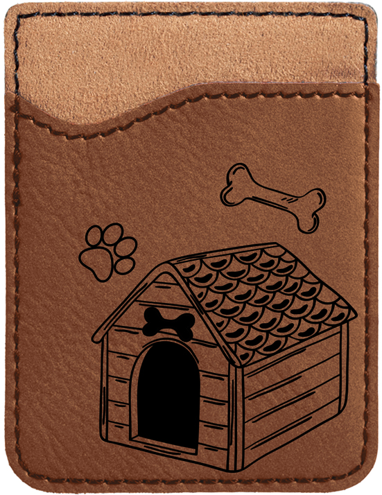 Home Sweet Bone Engraved Leather Phone Wallet
