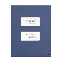 Dark Blue Large Window Linen Folder